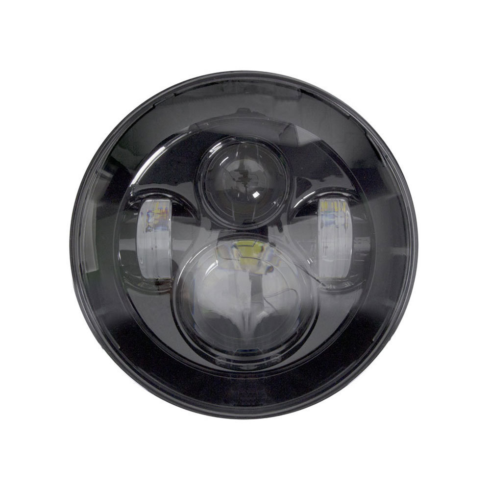 Black Round Motorcycle Headlights - 7 Inch