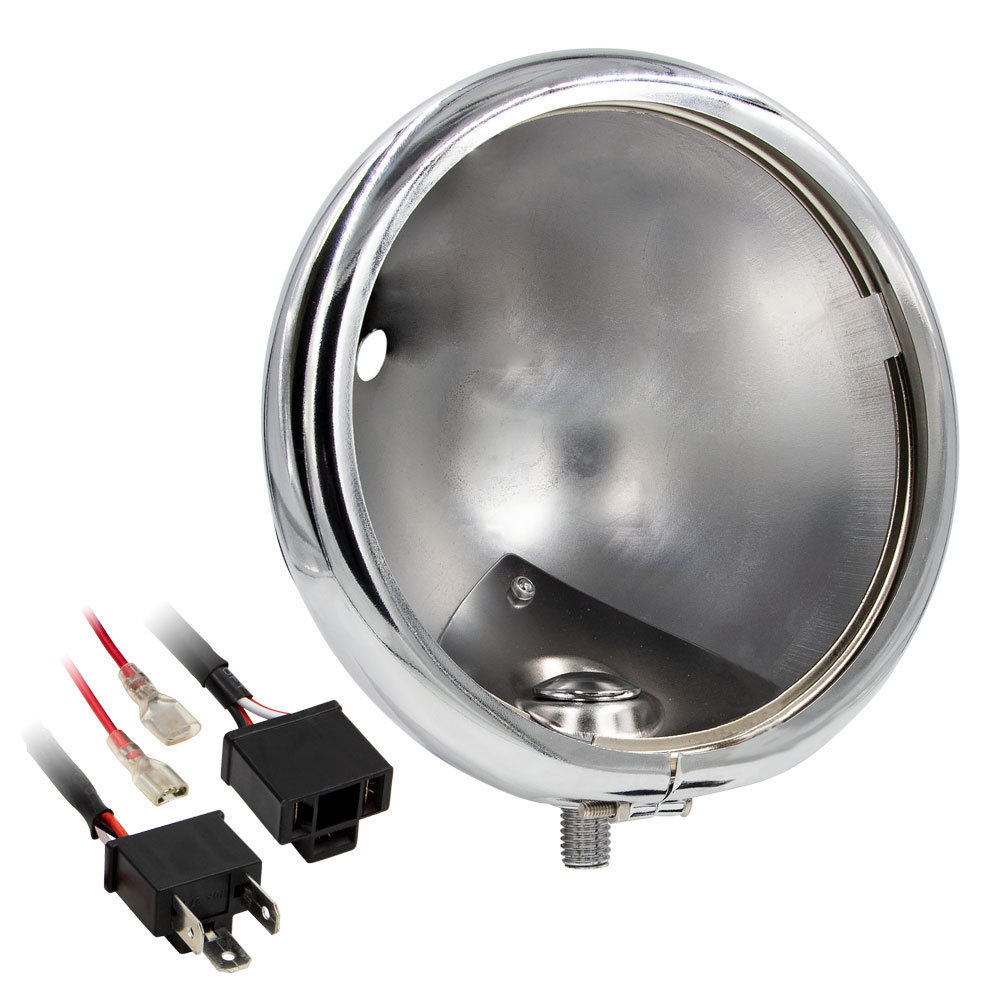 Chrome Headlight Housing Bucket - 5.75 Inch