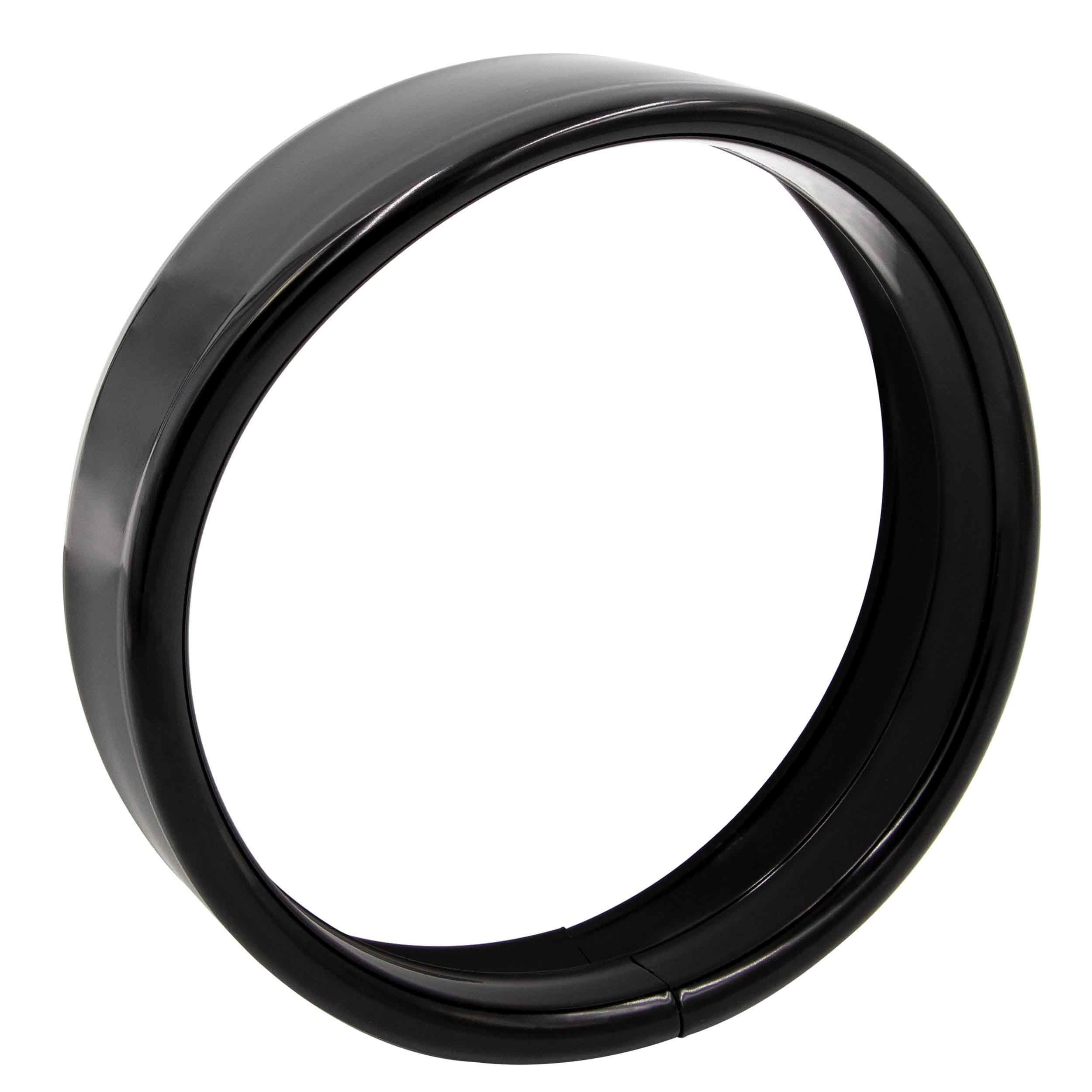 Black Visor Style Light Trim Ring - 5.75 Inch, Harley Davidson 1994-2016