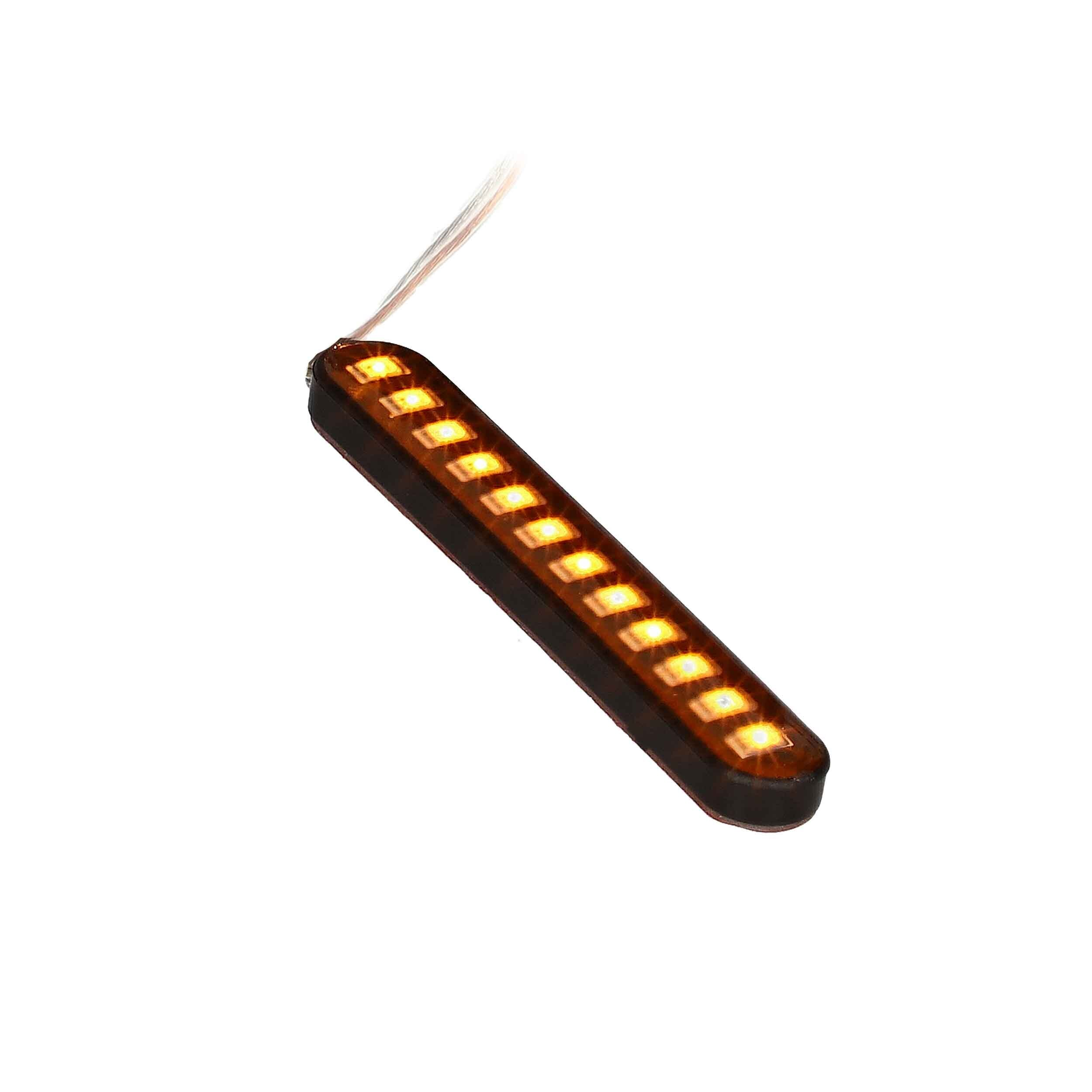 Amber Sequential Turn Signal - 3 Inch, 12 LED, Set of 2
