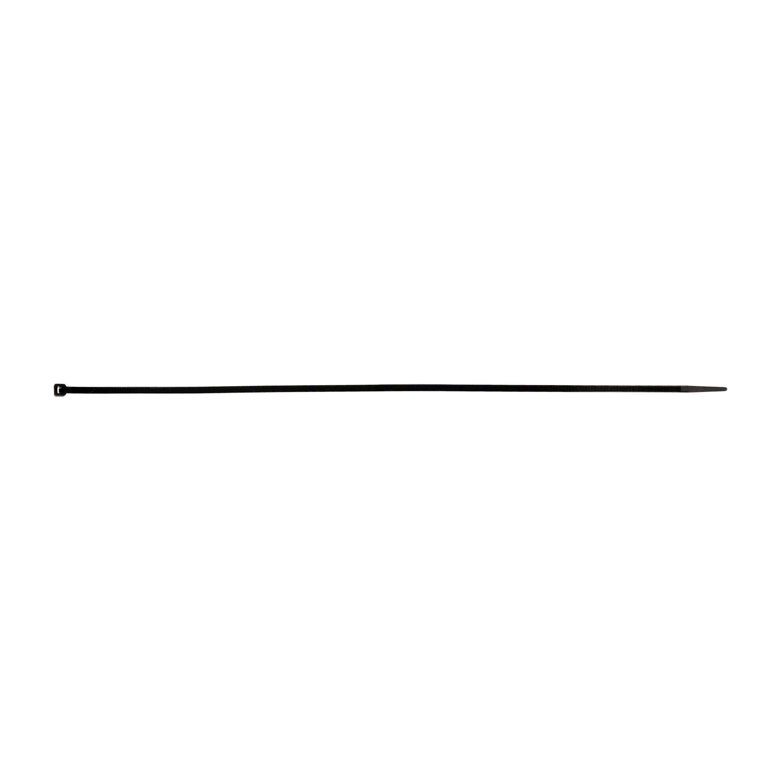 Black Cable Tie - 18 Inch, Package of 100