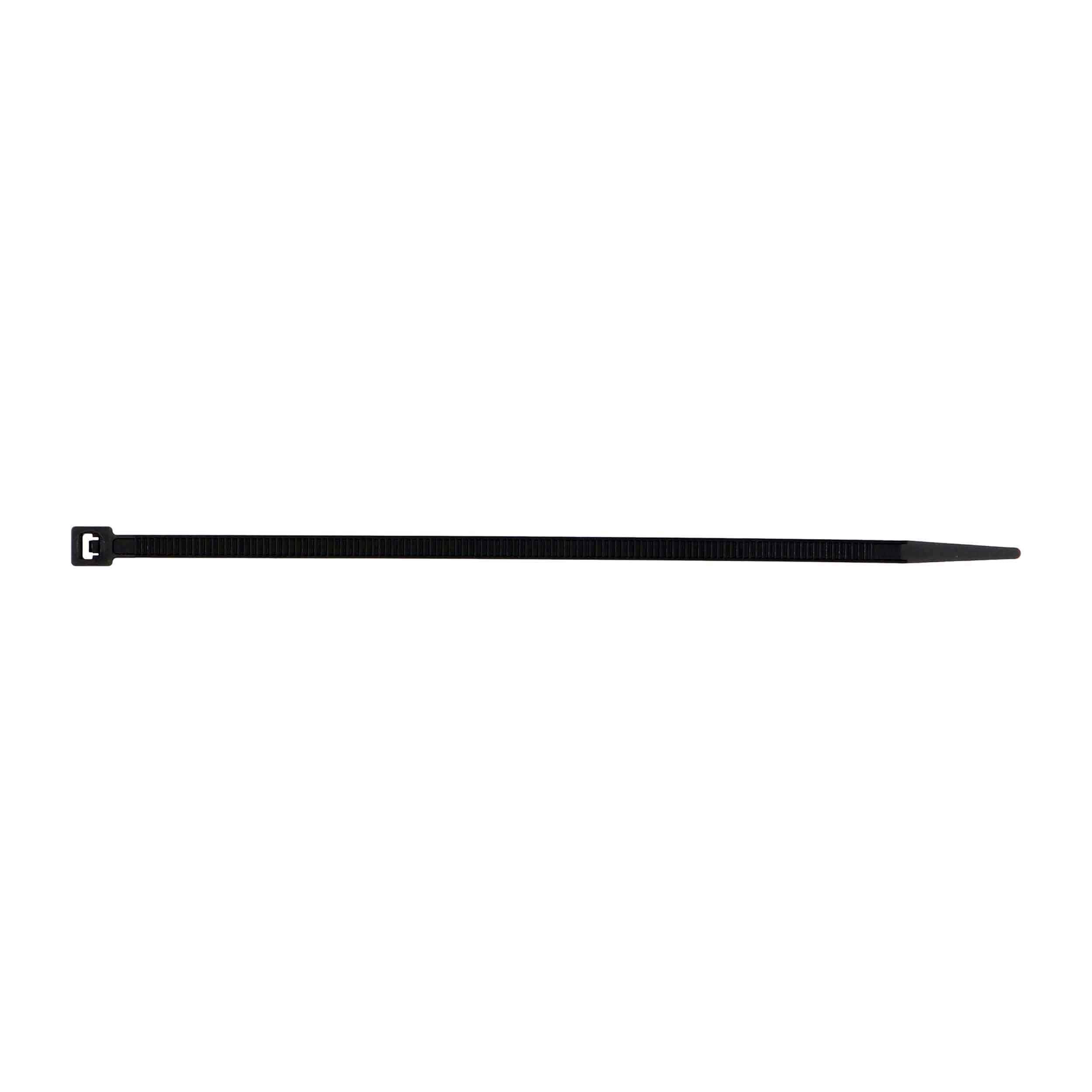 Black Cable Tie - 6 Inch, Package of 100