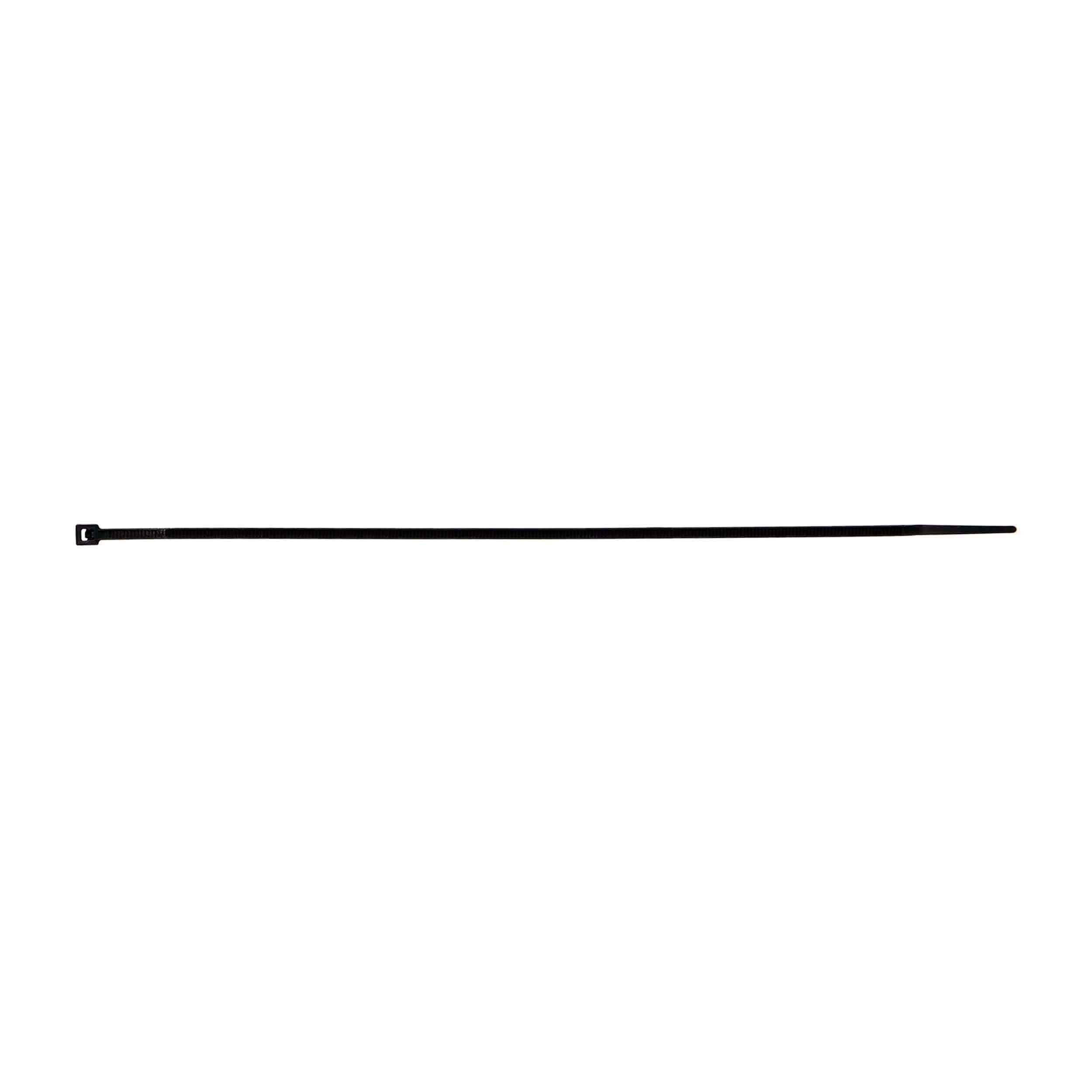 Thin Black Cable Tie - 8 Inch, Package of 100