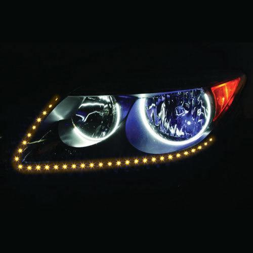 Side View Amber Light Strips - 24 Inch, 60 LED, Pair, Bulk