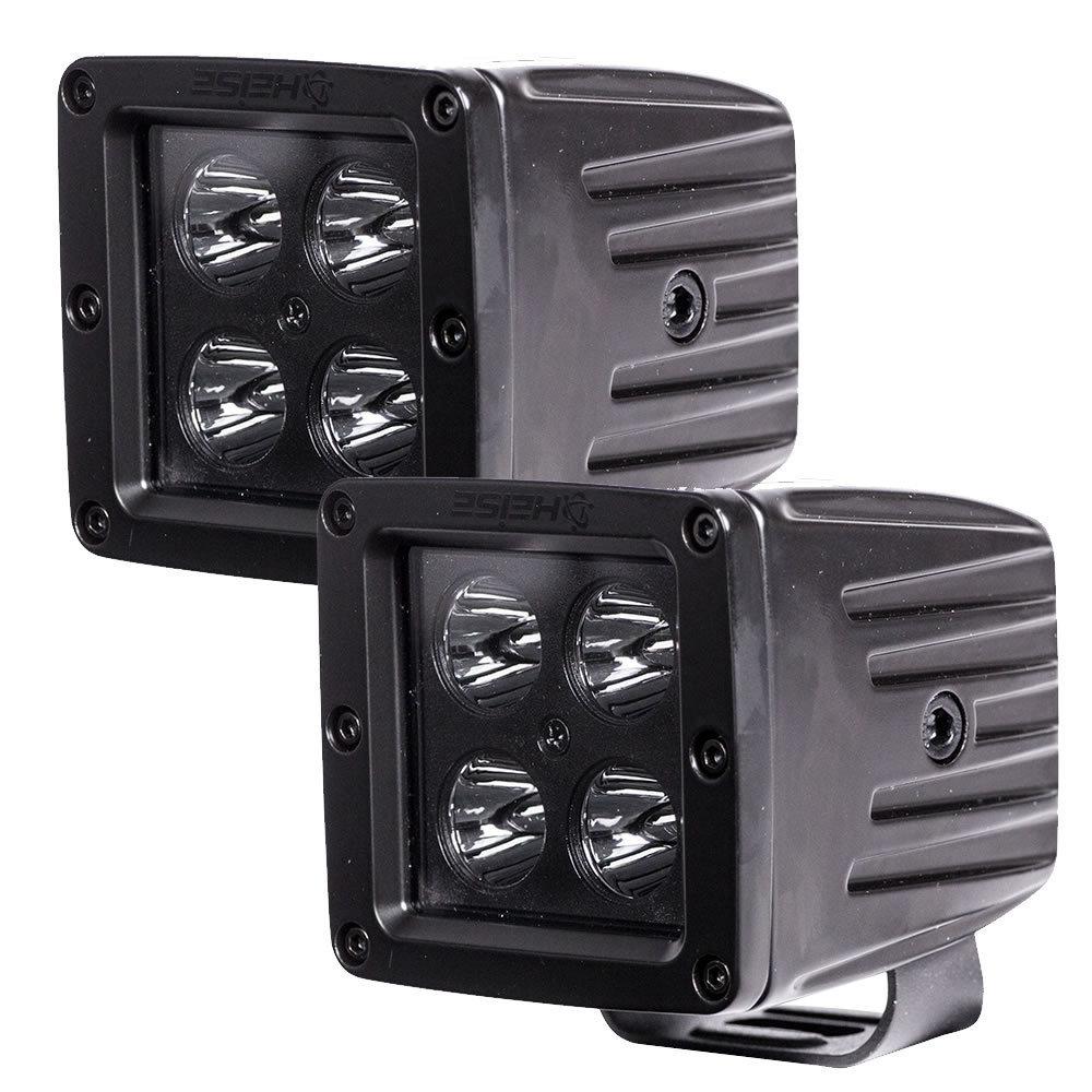 Cube Blackout Spot Light - 3 Inch, 4 LED, 2-Pack