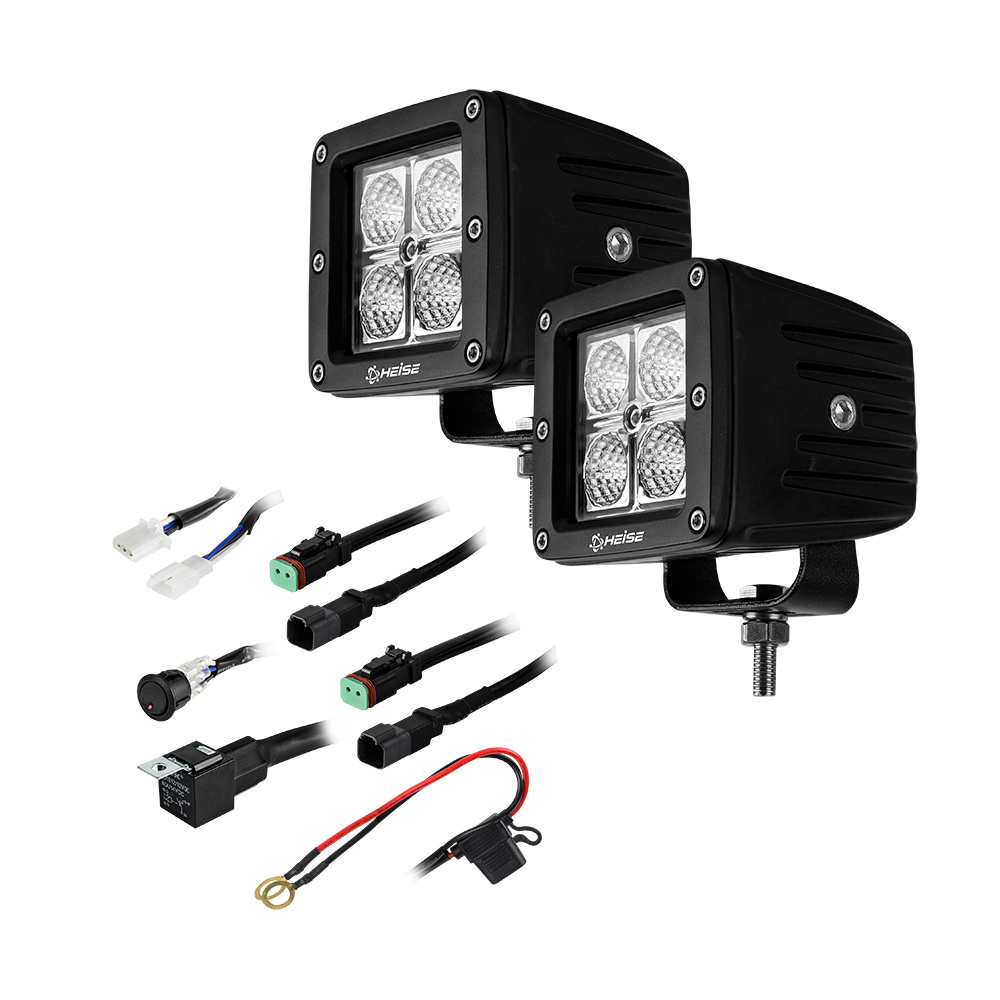 Cube Flood Light - 3 Inch, 4 LED, 2-Pack