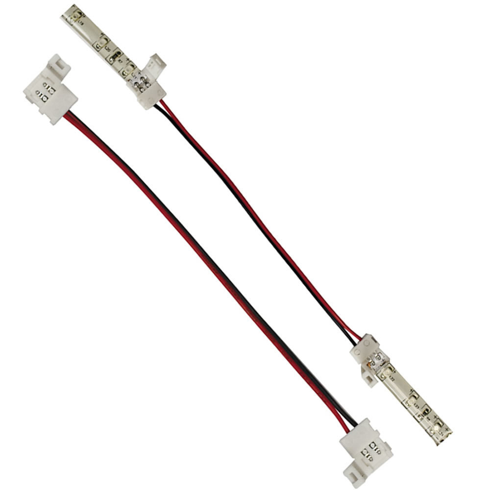 Extension Connector for Single Color 3528 LED Lights - 12 Inch, 10-Pack