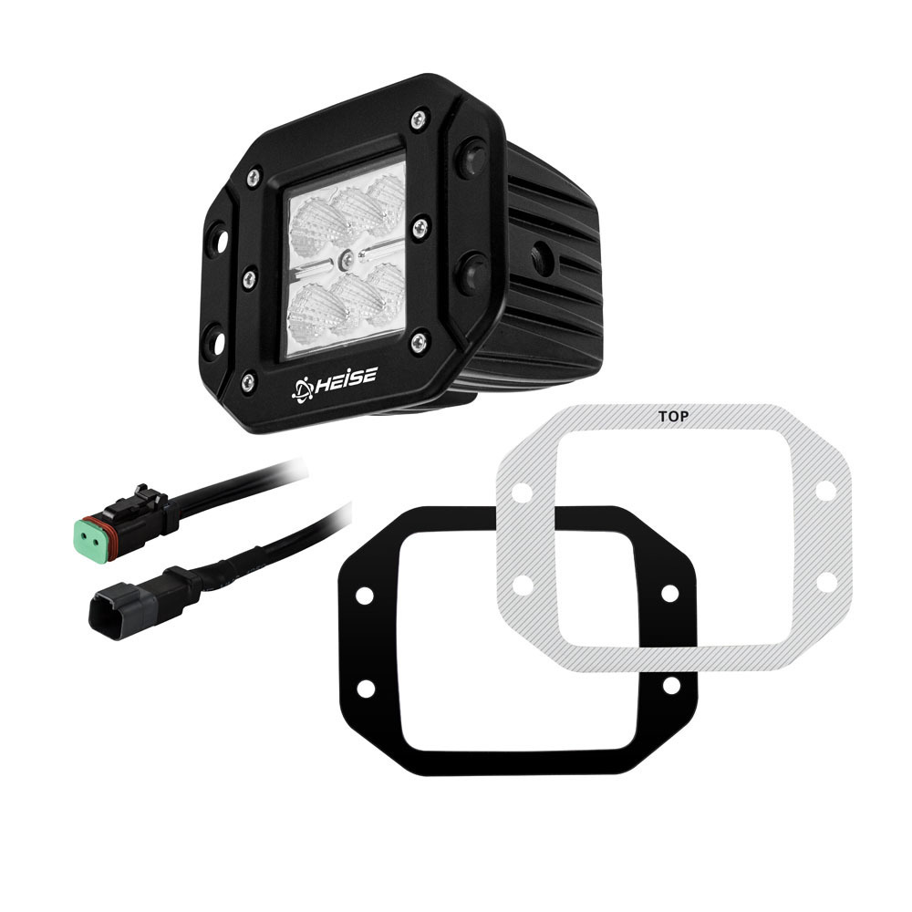 Flush Mount Cube Flood Light - 3 Inch, 6 LED