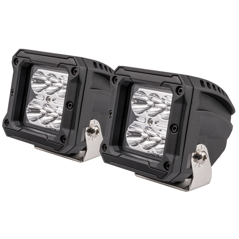 High Output Cube Spot Light - 3 Inch, 6 LED, 2-Pack