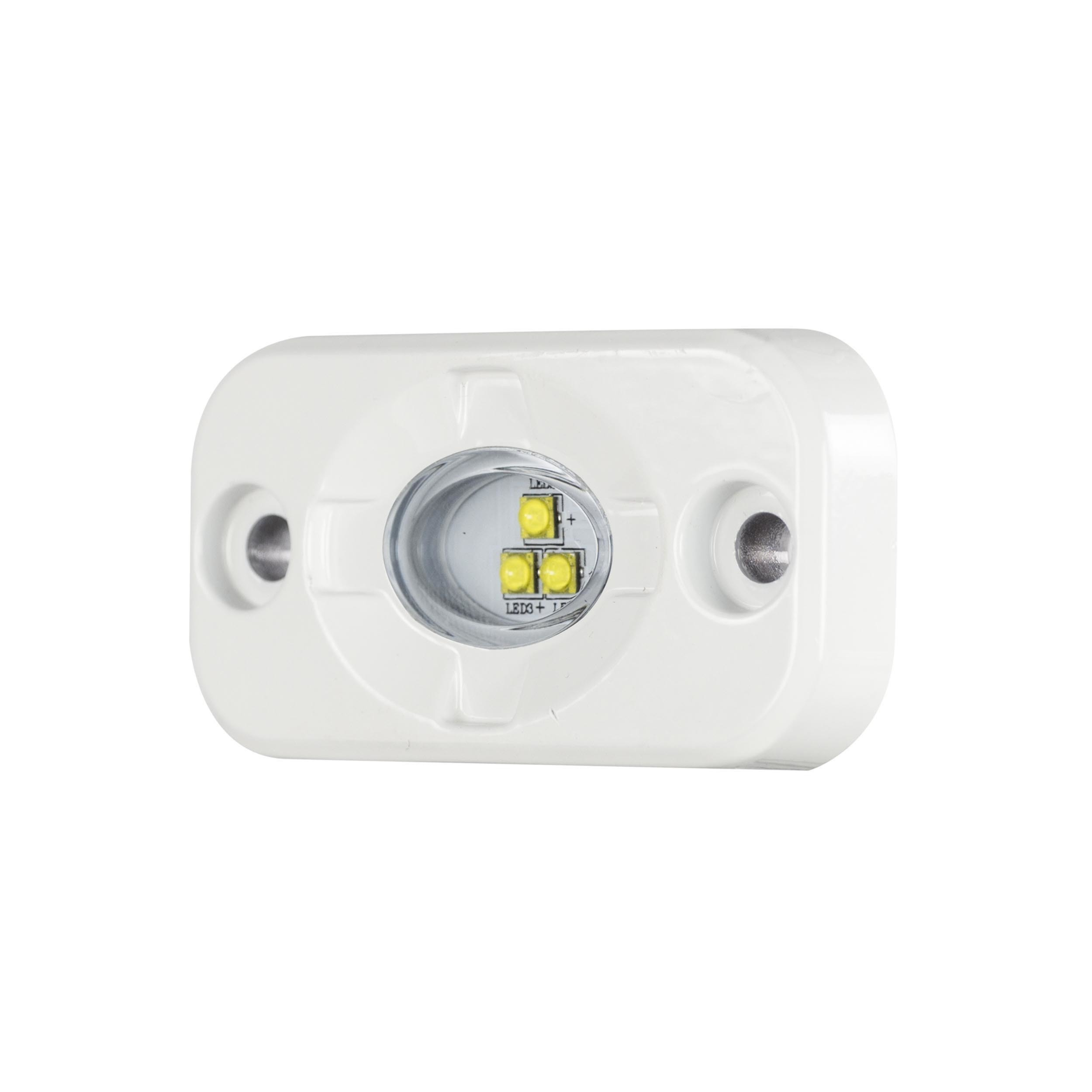 White Marine Auxiliary Lighting Pod - 1.5 Inch x 3 Inch