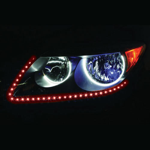 Side View Red Light Strips - 24 Inch, 60 LED, Pair, Bulk