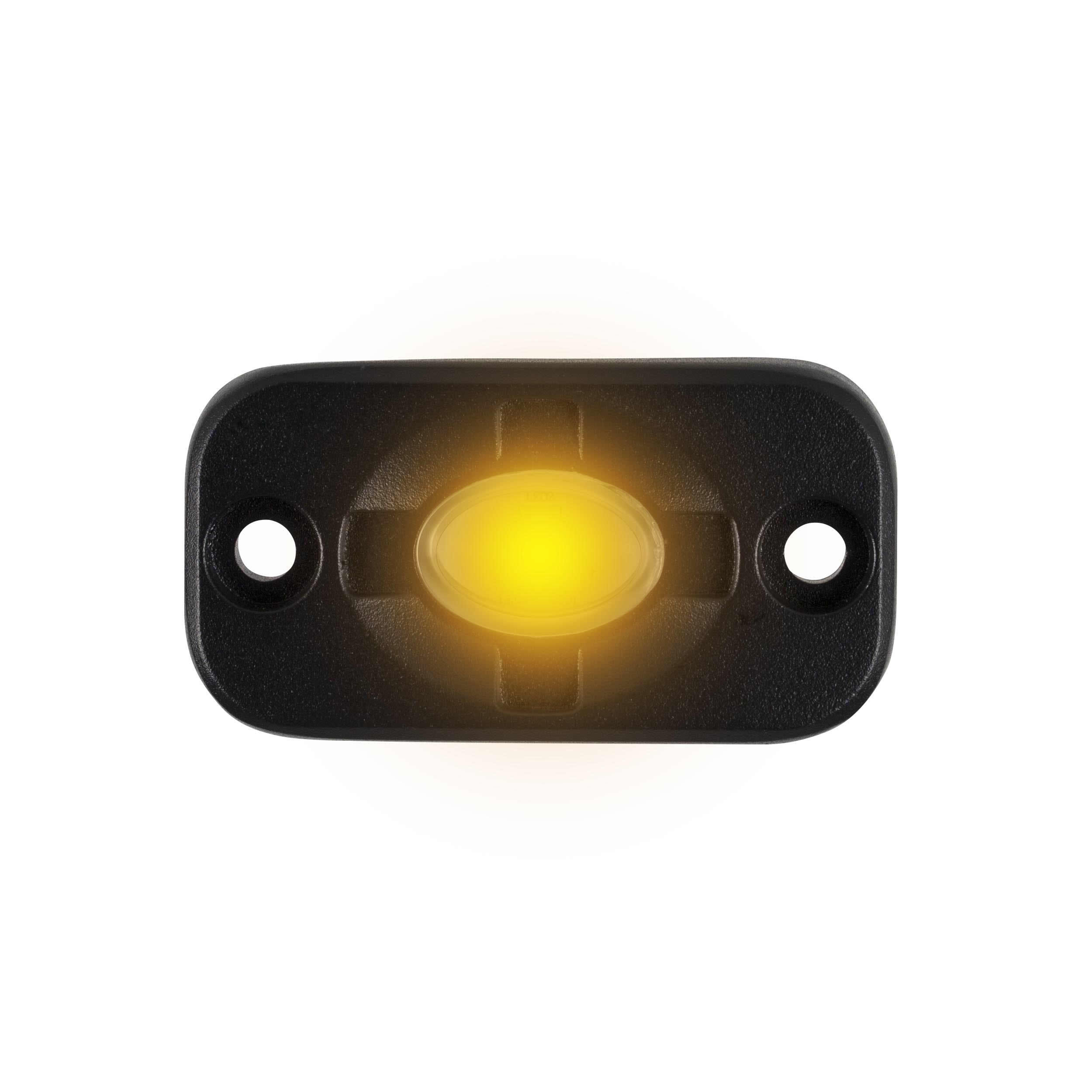 Amber Auxiliary Lighting Pod - 1.5x3 Inch, 3 LED