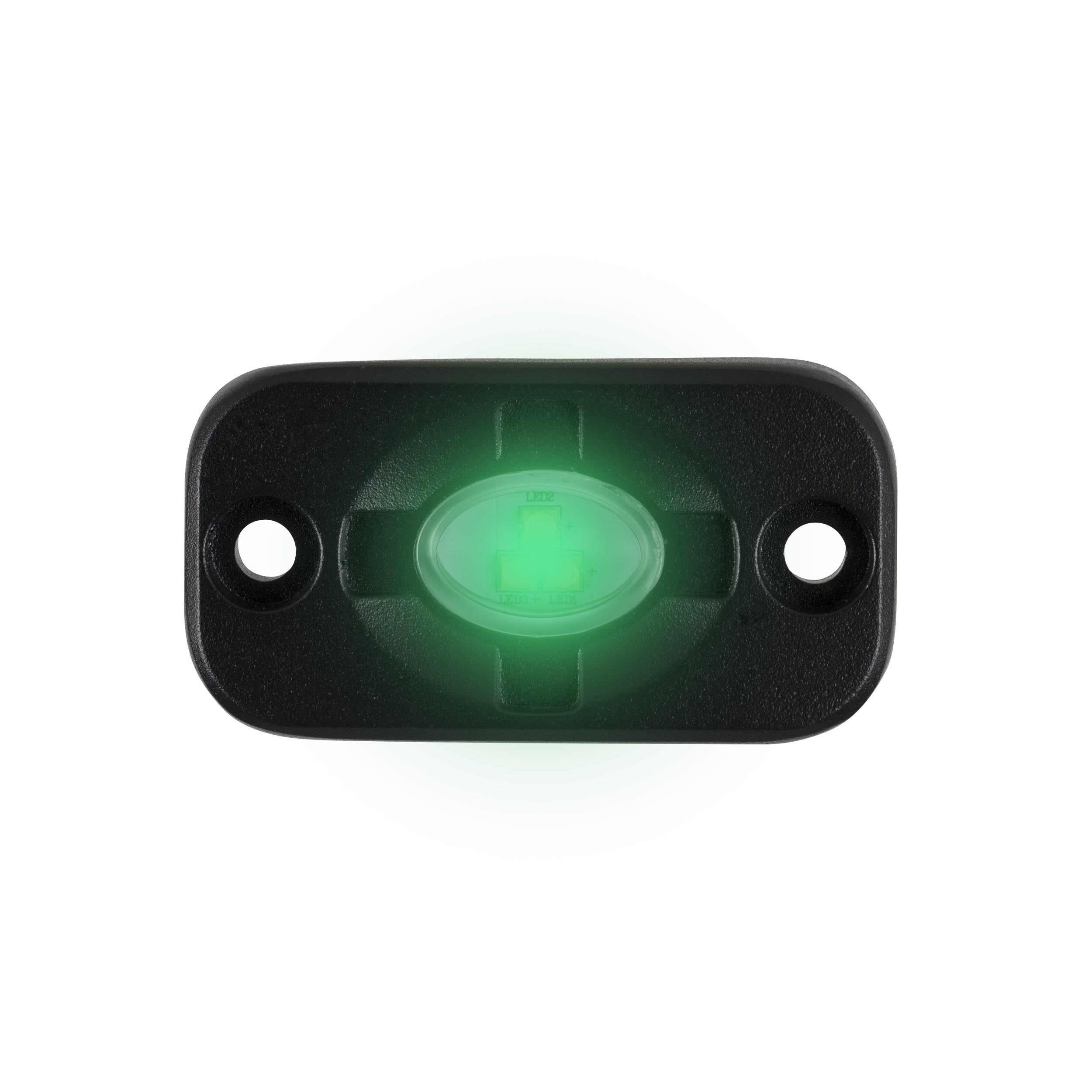 Green Auxiliary Lighting Pod - 1.5x3 Inch, 3 LED