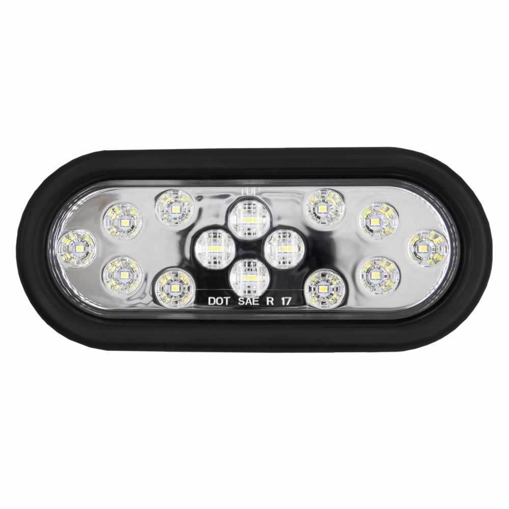 Oval White Light with Grommet - 6 Inch, 14 LED