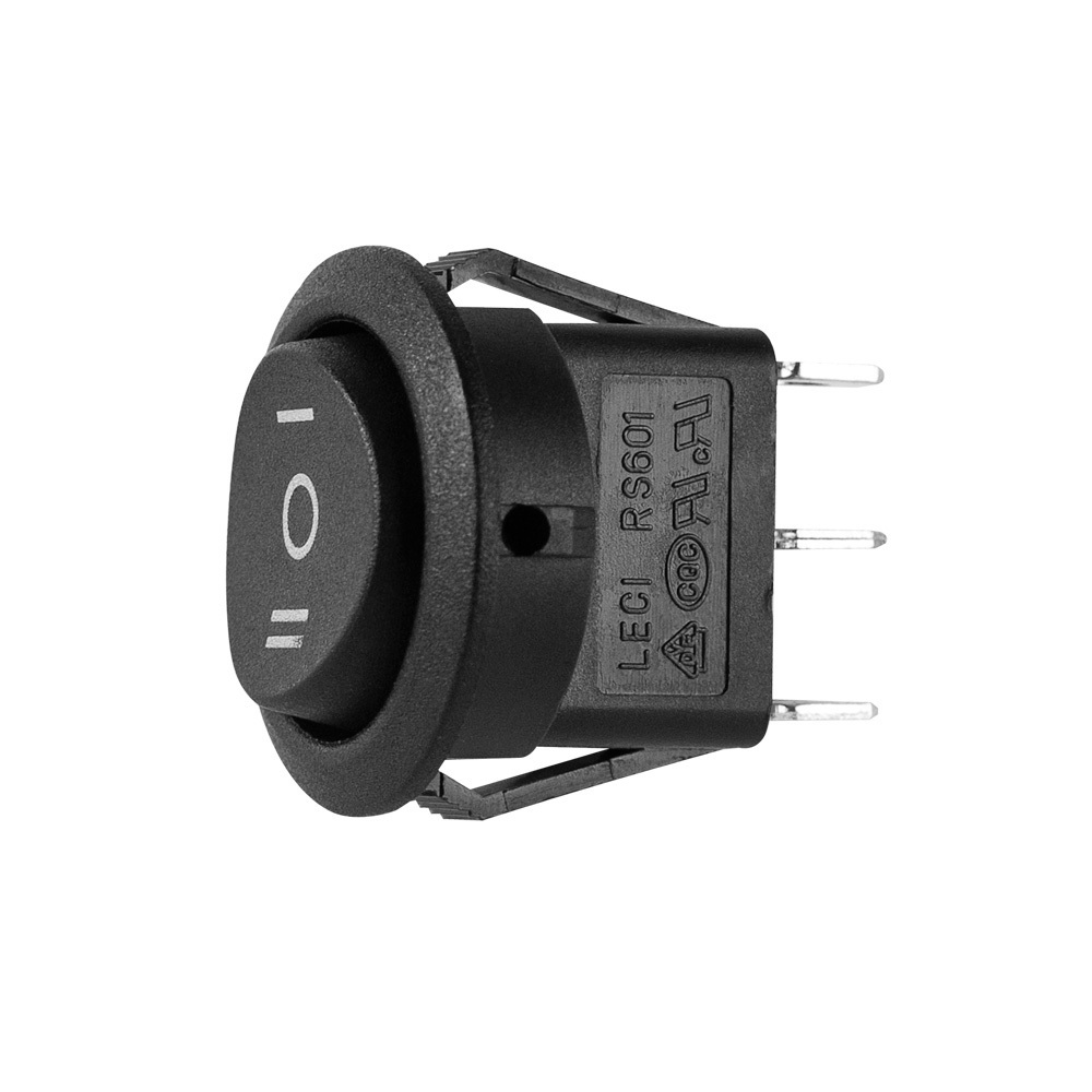 Round Rocker Switch Momentary Up Latched Down  - Pack of 5