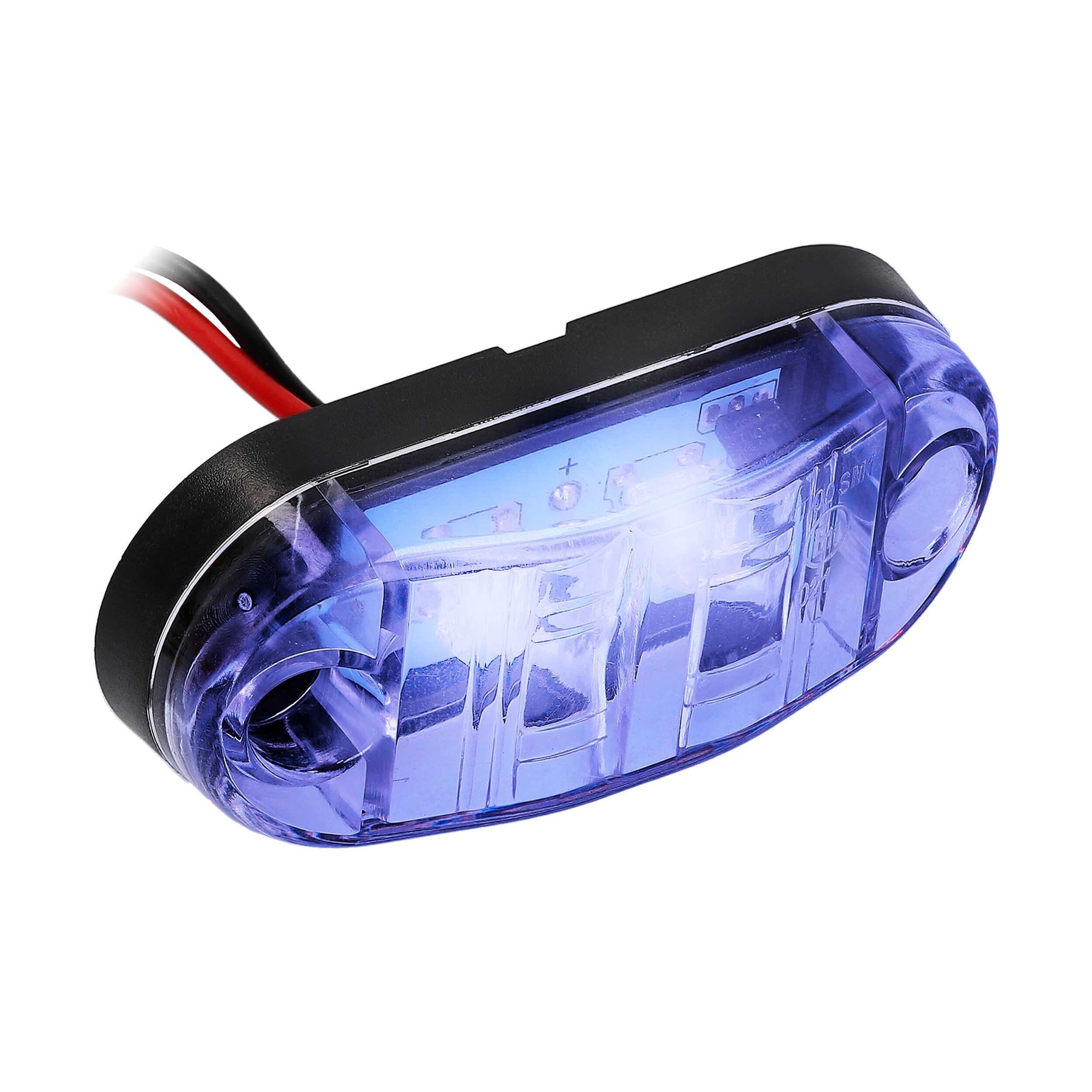 Blue 2-LED Accent Light - Clear Plastic Bezel