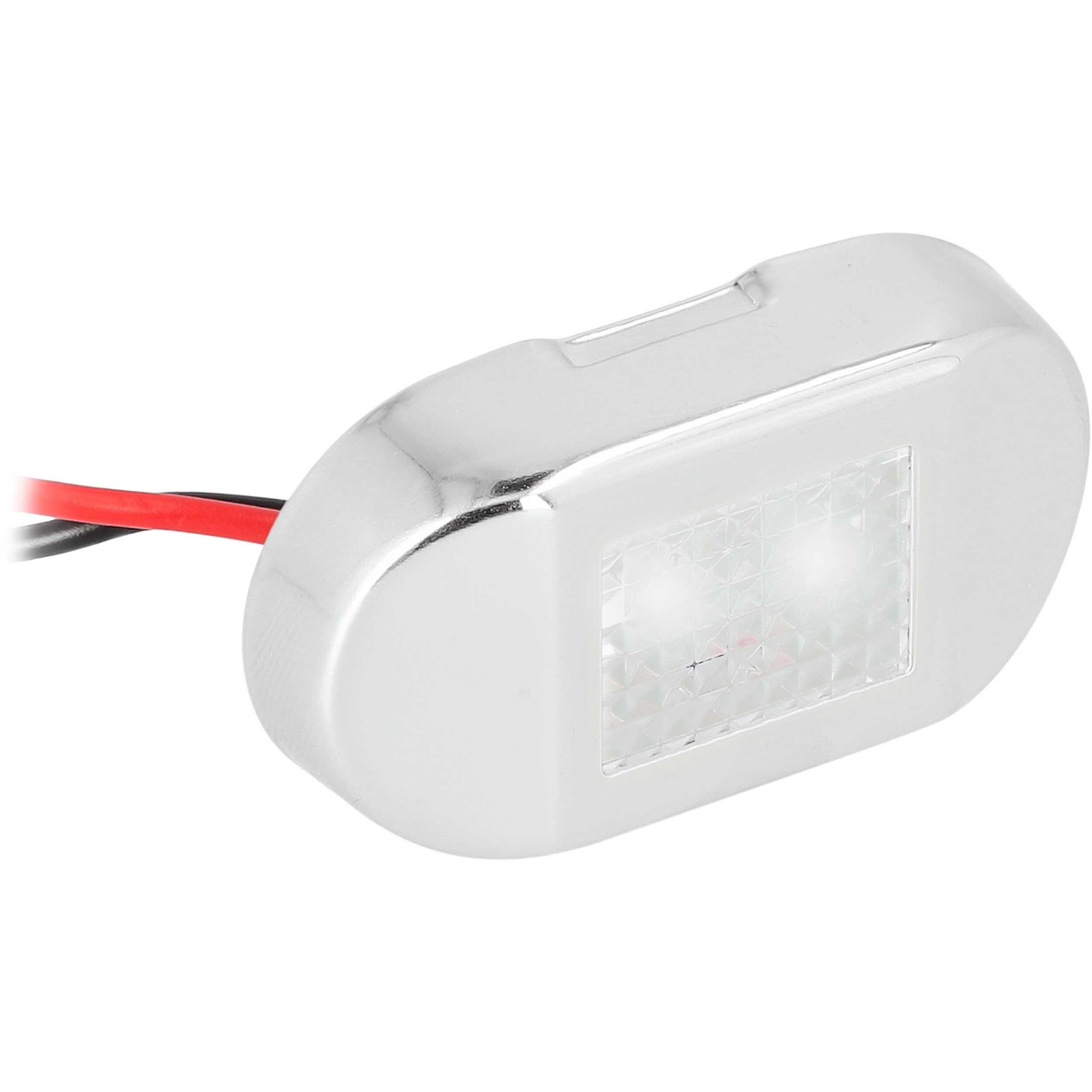 White 2-LED Accent Light - Stainless Steel Bezel