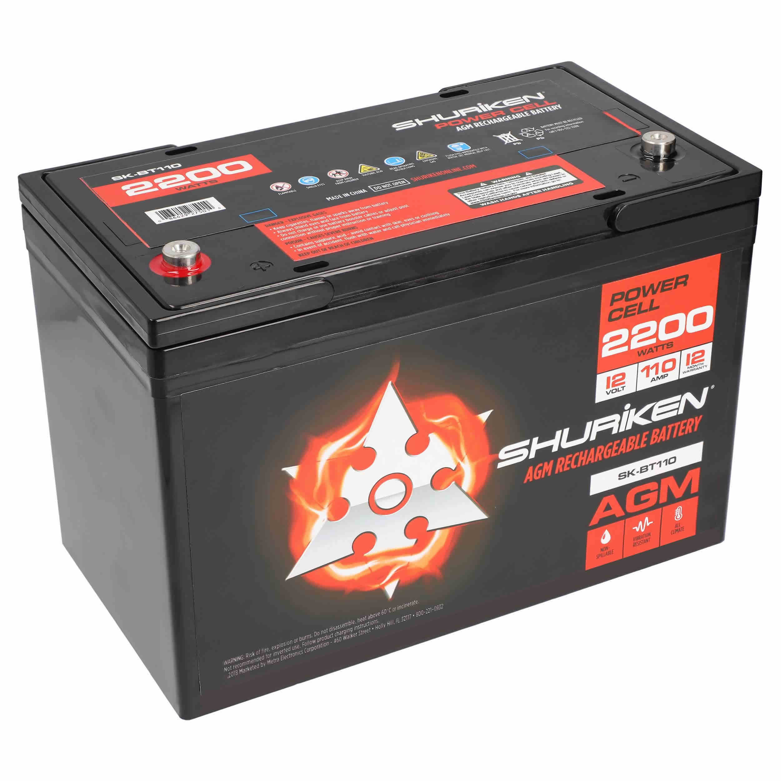 2200W 110AMP Hours Large Size AGM 12V Battery