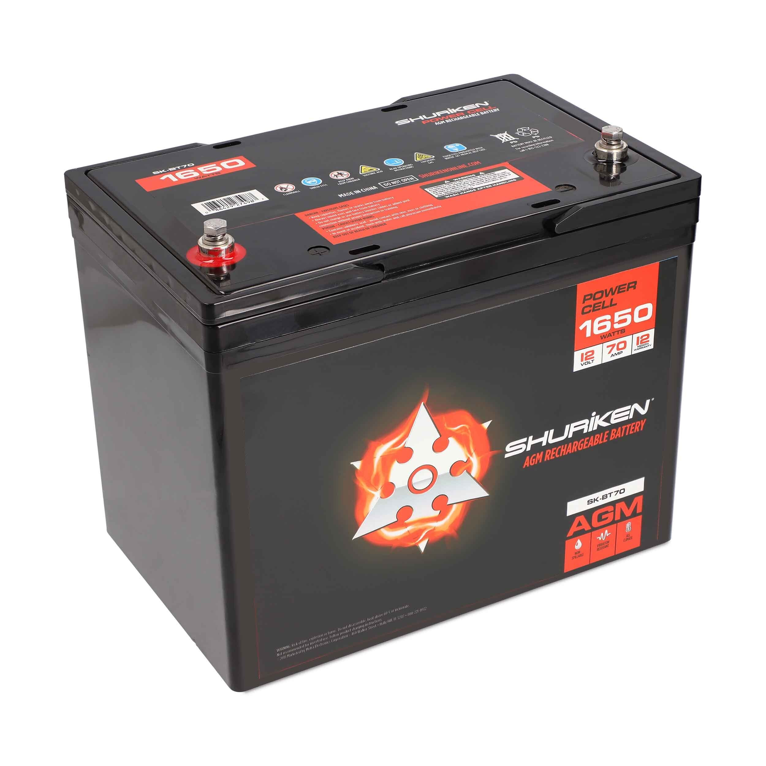 1650W 70AMP Hours Full Size AGM 12V Battery