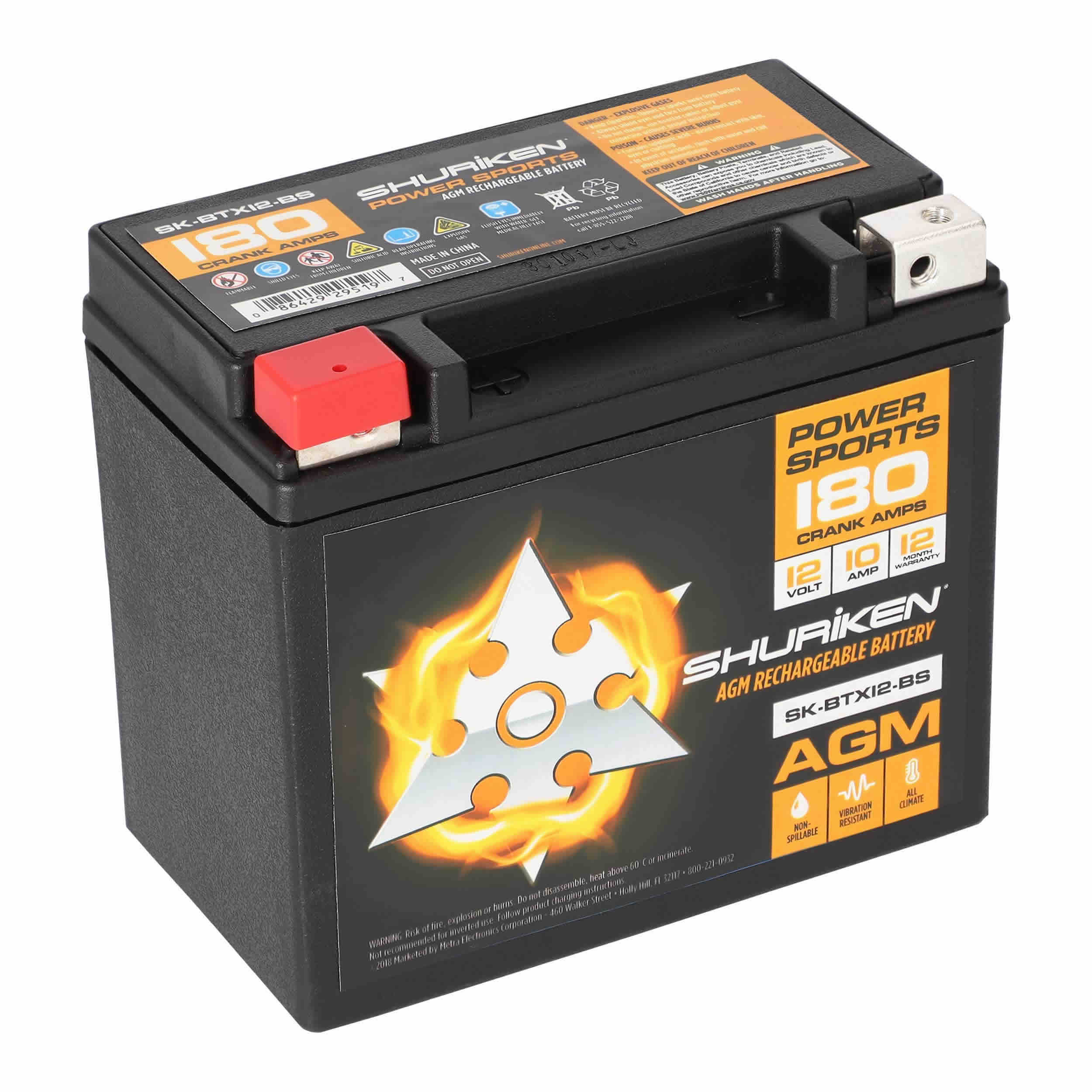 180 Crank AMPS / 10AMP Hours AGM Battery