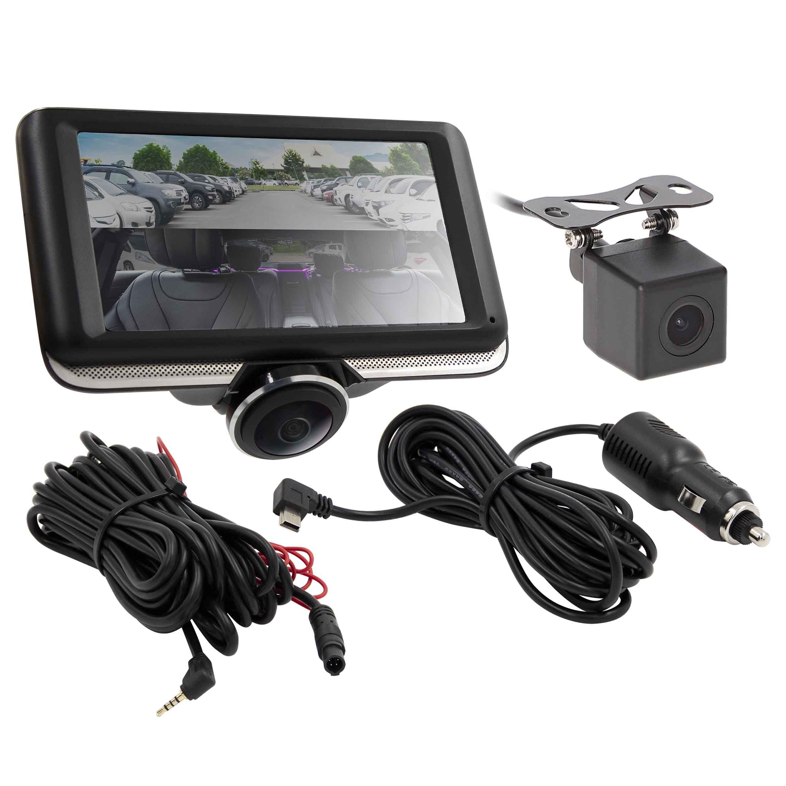 360 Degree Interior Dash Camera with Rearview Camera