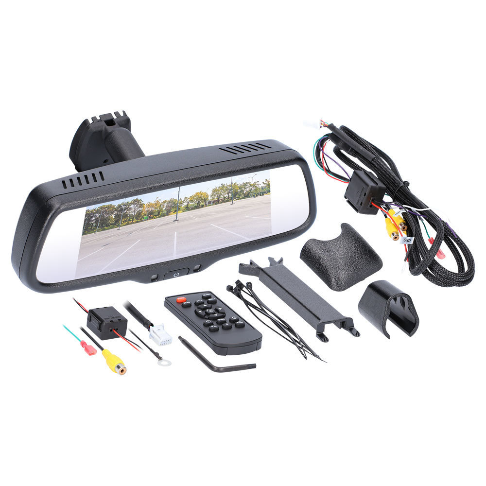 7 Inch Mirror/Monitor Single View with 3 Inputs
