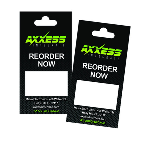 Axxess Out of Stock cards