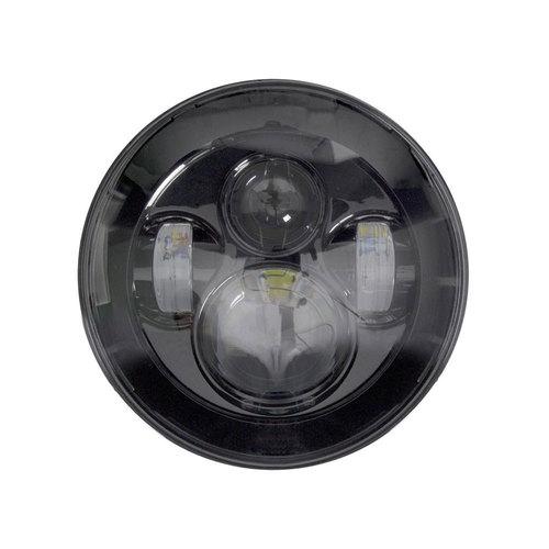 Black Round Motorcycle Headlights - 7 Inch