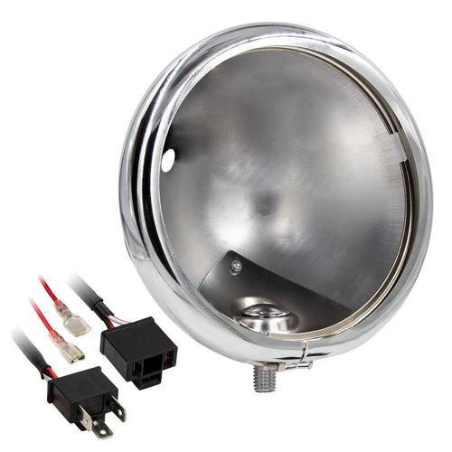 Chrome Headlight Housing Bucket - 5.75 Inch