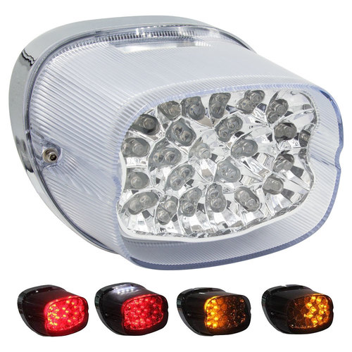 Clear Replacement Tail Light with Turn Signals - Harley Davidson 1999-2016