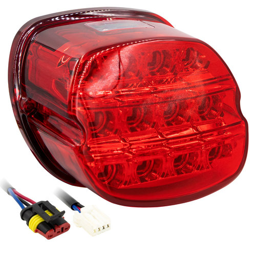 Red LED Replacement Tail Light  - Harley Davidson 1999-2009