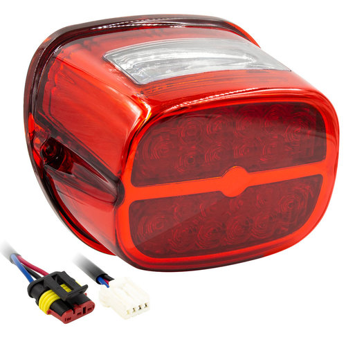 Red OE Style LED Replacement Tail Light  - Harley Davidson 1999-2009