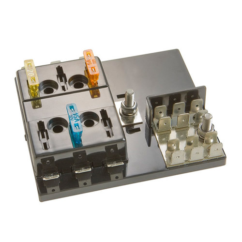 Fuseblock ATC with 6 Position with Grounding Pad