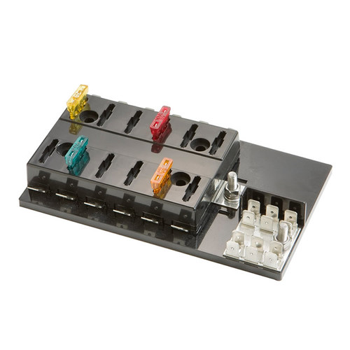 Fuse Block ATC 12 Position Block with Grounding Pad