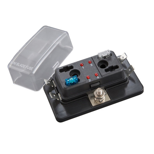 Fuse Block ATM With LED Indicators - 4 Position