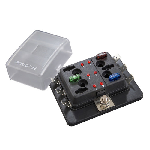 Fuse Block ATM With LED Indicator - 6 Position