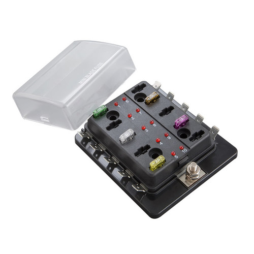 Fuse Block ATM With LED Indicator - 10 Position