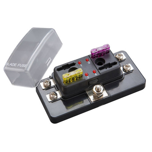 Fuse Block ATC With Indicating LEDs - 4 Position - Screw Terminals