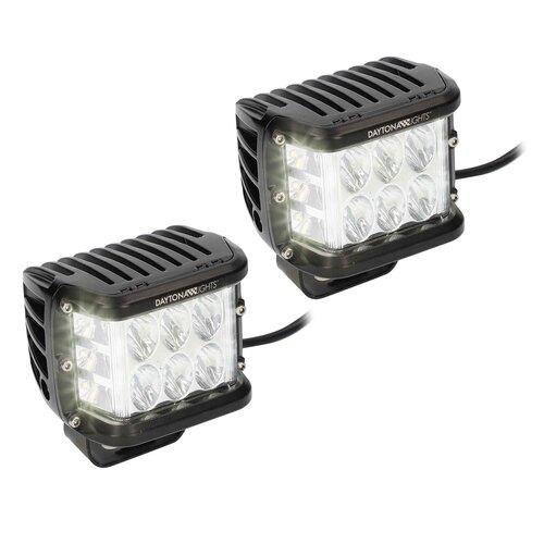Dual Row Cube Lights - 140-Degree Dual Zone, 12 LED