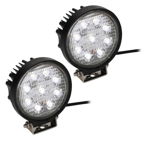 Round Driving Lights - 9 LED