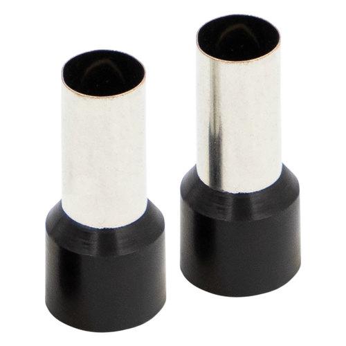 Ferrules - Black 1/0GA - 50 per Bag