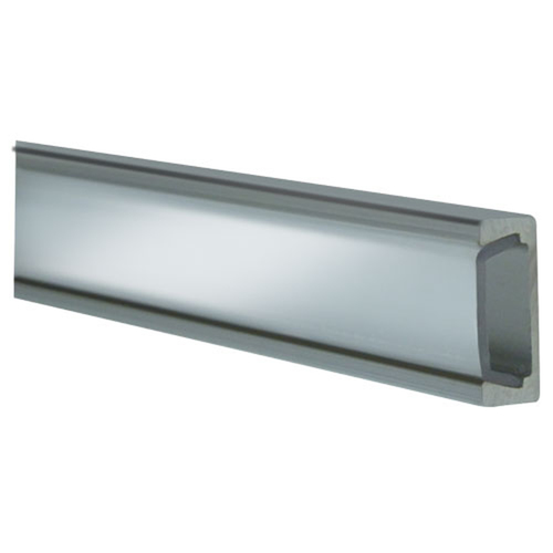 Clear Aluminum Surface Mount Track - 3 Ft