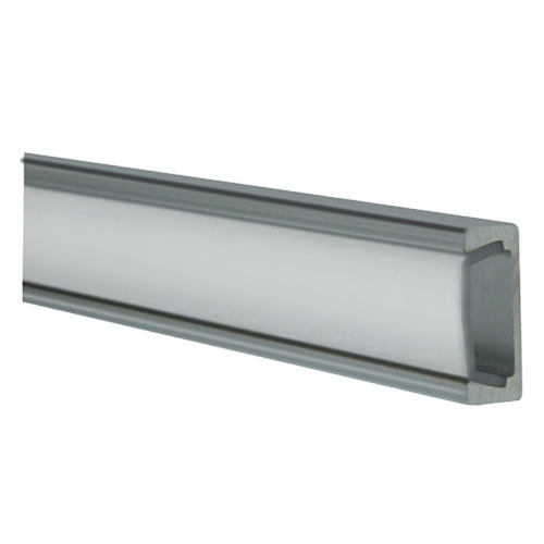 Frosted Aluminum Surface Mount Track - 3 Ft
