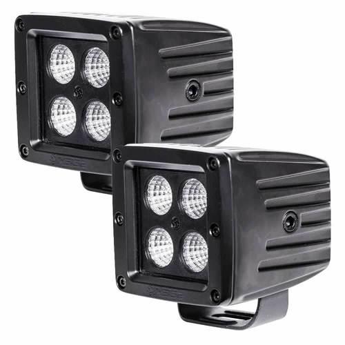 Cube Blackout Flood Light- 3 Inch, 4 LED, 2-Pack