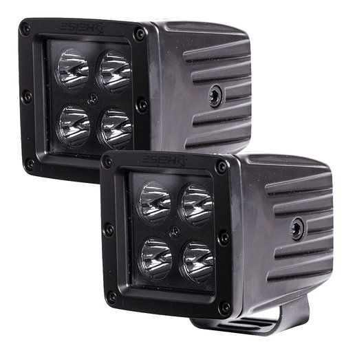 Cube Blackout Spot Light - 3 Inch, 4 LED, 2-Pack