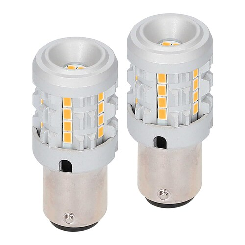 1156 Amber Bulbs with Integrated Internal CANBUS System - 2-Pack