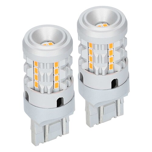 7443 Amber Bulbs with Integrated Internal CANBUS System - 2-Pack