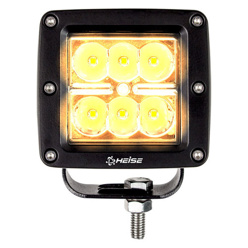Amber Cube Spot Light - 3 Inch, 6 LED