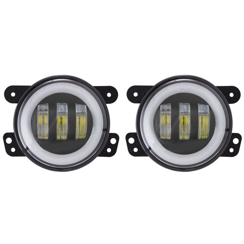 Fog Lights with RGB Halo - 4 Inch, 3 LED