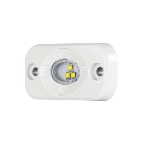 White Marine Auxiliary Lighting Pod - 1.5 Inch x 3 Inch